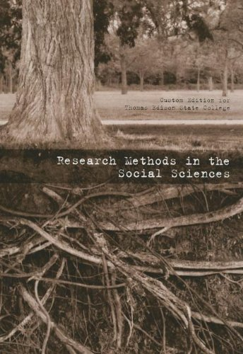 9780536941541: Research Methods in Social Sciences: Custom Edition for Thomas Edison State College