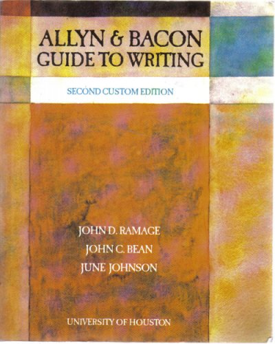 9780536942661: Allyn & Bacon Guide to Writing