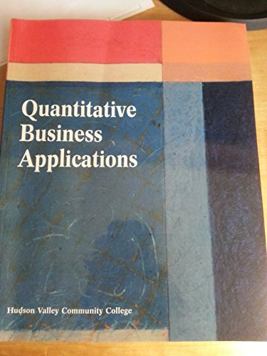 9780536942920: Quantitative Business Applications