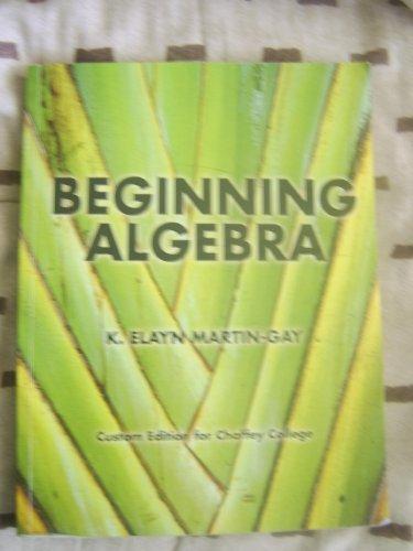 9780536943040: Beginning Algebra