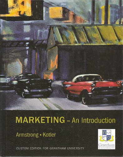 Marketing An Introduction Custom Edition for Grantham: Armstrong