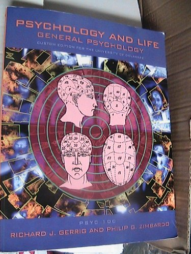 9780536948083: PSYCHOLOGY AND LIFE~~CUSTOM EDITION FOR THE UNIVERSITY OF DELAWARE (GENERAL PSYCHOLOGY)