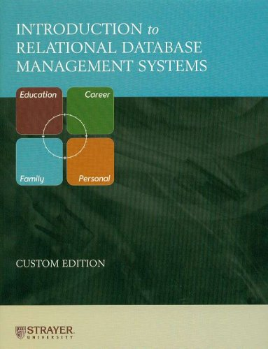Introduction to Relational Database Management Systems: Pearson Prentice Hall