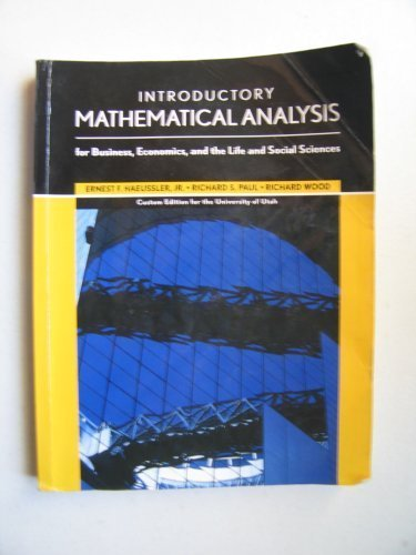 Introductory Mathematical Analysis for Business, Economics and: paulwood richard