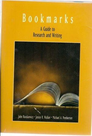 9780536954138: BOOKMARKS: A Guide To Research and Writing
