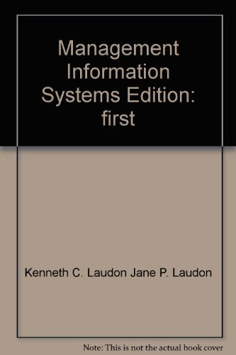 9780536956545: Management Information Systems Edition: first