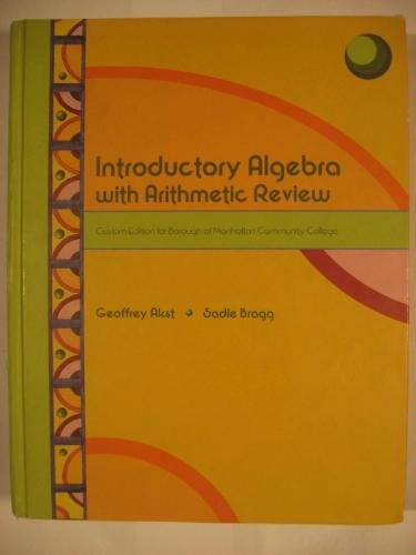 9780536959300: Introductory Algebra with Arithmetic Review