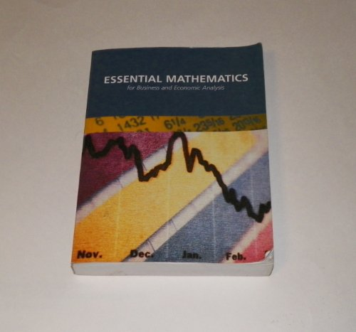 9780536964168: Essential Mathematics for Business and Economic Analysis