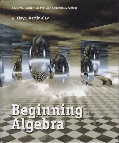 9780536965943: Beginning Algebra (A custom edition for Portland Community College)