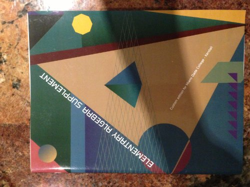 Elementary Algebra Suppliment (Custom Edition for Miami: various