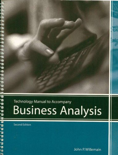 9780536974785: Technology Manual to Accompany Business Analysis (Custom Edition for Western New England College)