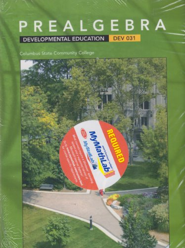 PREALGEBRA (CUSTOM EDITION FOR CSCC) DEVELOPMENTAL EDUCATION: Magaret L Lial