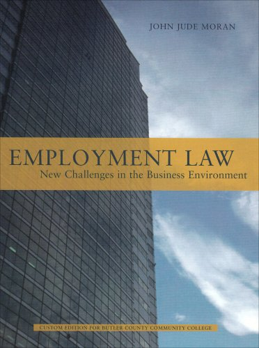 9780536982544: Employment Law: New Challenges in the Business Environment