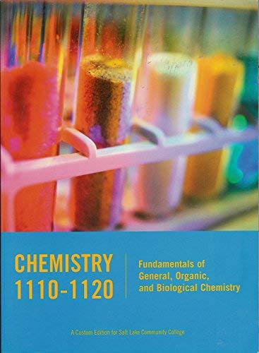 9780536984050: Chemistry 1110-1120: Fundmentals of General, Organic, and Biological Chemistry