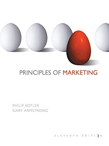 9780536984548: Principles of Marketing (For the Students of Indiana University Bloomington, Taken from Principles of Marketing, 11th Edition by Kotler and Armsstrong)