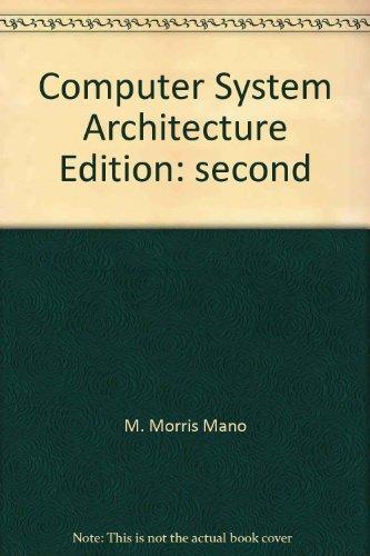 Computer System Architecture Mano Pdf
