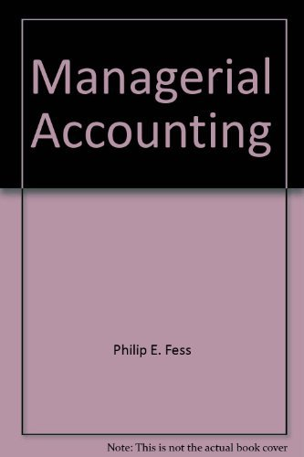 9780538016001: Managerial accounting