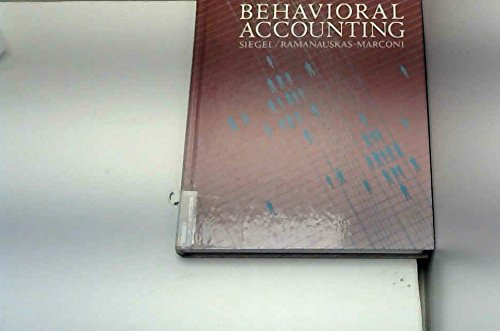 9780538016506: Behavioral Accounting