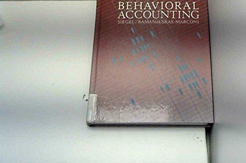 9780538016506: Behavioral Accounting