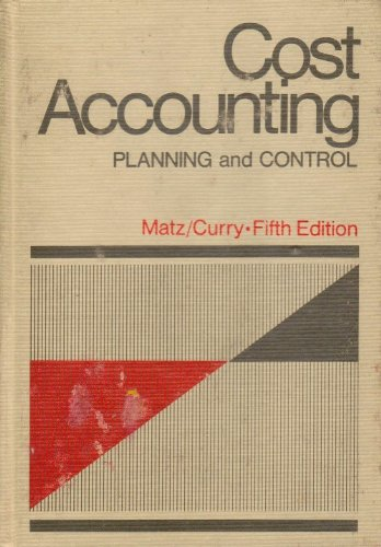 9780538017503: Cost Accounting Planning and Control