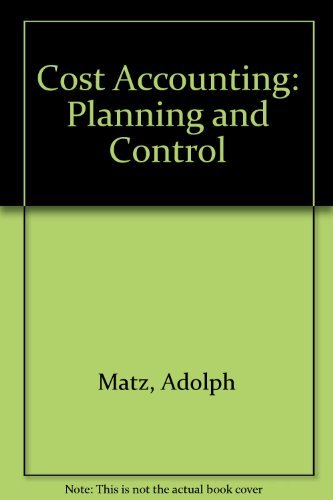 9780538018708: Cost Accounting: Planning and Control