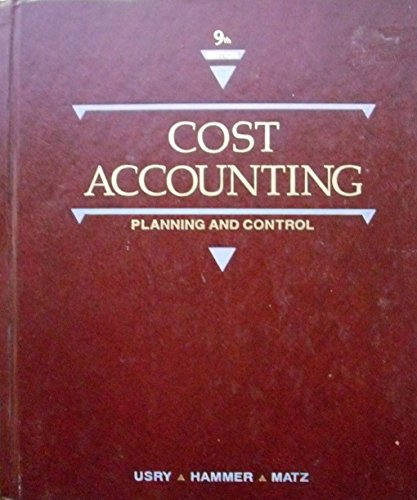 9780538018814: Cost Accounting: Planning and Control
