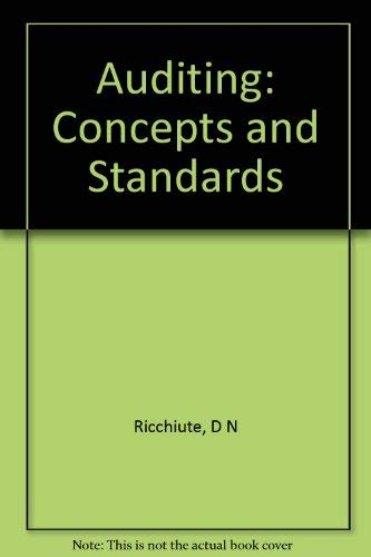 9780538019903: Auditing: Concepts and standards