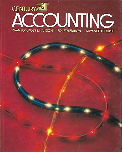 9780538024709: Century 21 Accounting: Advanced Course (Be-Accounting Advanced)