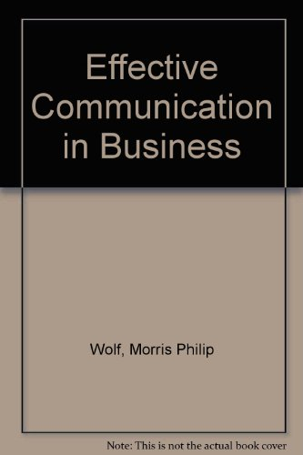 9780538055208: Effective communication in business