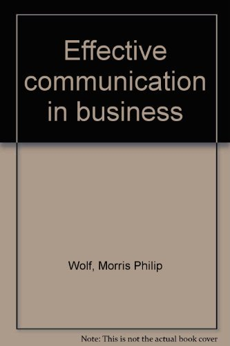 9780538055307: Effective communication in business