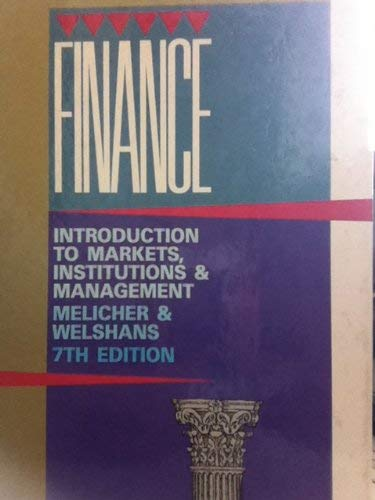 9780538061605: Finance: An Introduction to Markets, Institutions and Management