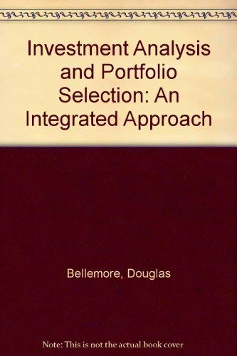 Investment Analysis and Portfolio Selection : An: John C. Ritchie;