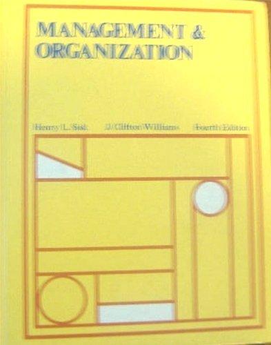 9780538074308: Management and Organization