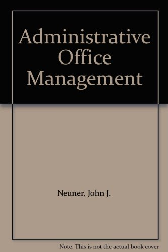 9780538075107: Administrative Office Management