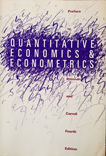 9780538082303: Preface to Quantitative Economics & Econometrics