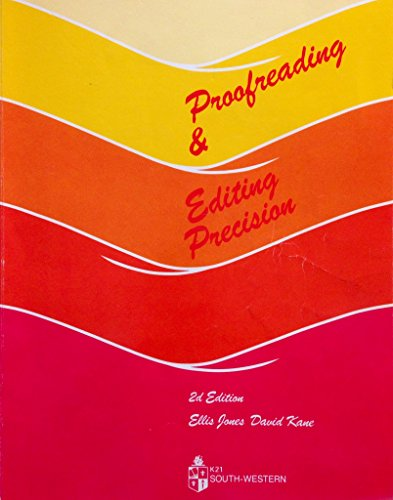9780538112116: Proofreading and Editing Precision (EC-Business Communications)
