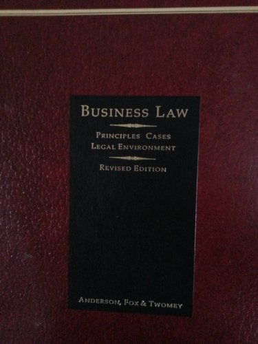 9780538124508: Business Law: Principles, Cases, Legal Environment (ASHE Reader)