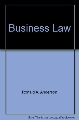 Business Law: Ronald A. Anderson,