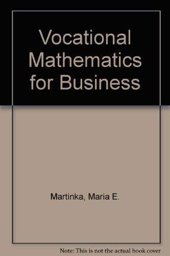Vocational Mathematics for Business: Martinka, Maria E.,