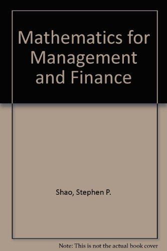 9780538133401: Mathematics for management and finance