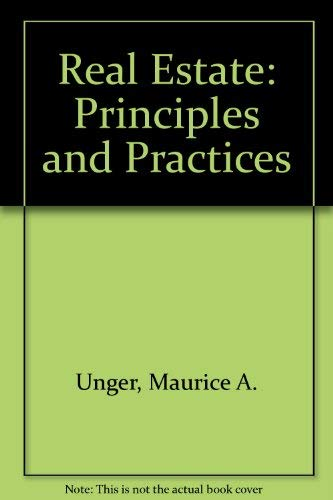 9780538196604: Real Estate: Principles and Practices