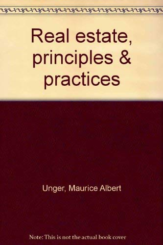 9780538196611: Real estate, principles & practices