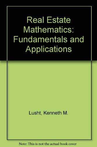 9780538196802: Real Estate Mathematics: Fundamentals and Applications