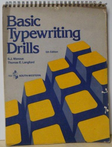 9780538200301: Basic Keyboarding/Typewriting Drills