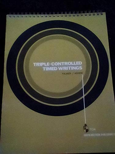 Triple-controlled timed writings,: Palmer, Harold O