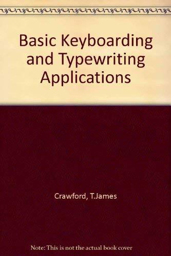 9780538203777: Basic Keyboarding and Typewriting Applications