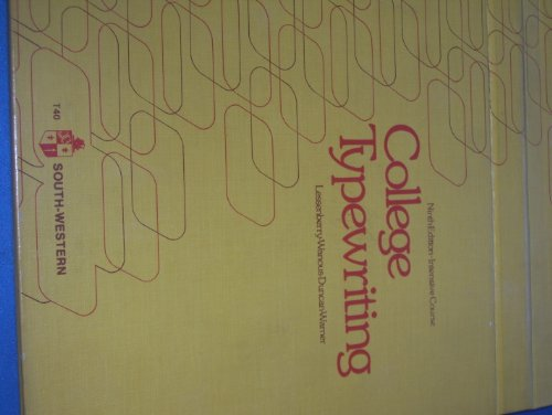 COLLEGE TYPEWRITING: INTENSIVE COURSE (TYPING): Lessenberry, D. D.