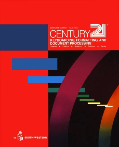 9780538205504: Century 21 Keyboarding, Formatting, and Document Processing