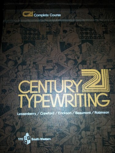 9780538207003: Century 21 Typewriting: Complete Course