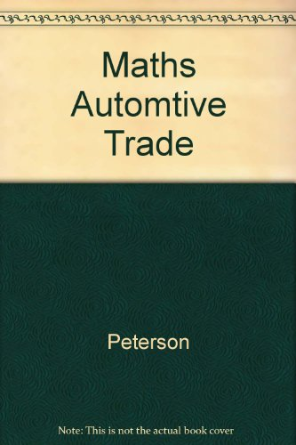 9780538330206: Math for the Automotive Trade